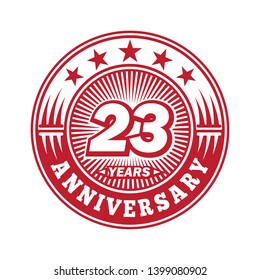 23 years anniversary. Anniversary logo design. Vector and illustration.