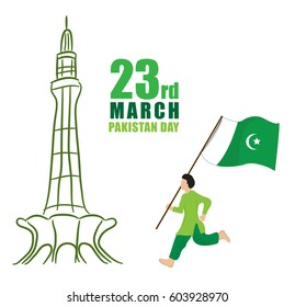 23rd of march Pakistan Day Celebration vector illustration