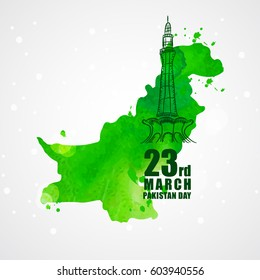 23rd of march pakistan day celebration. vector illustration