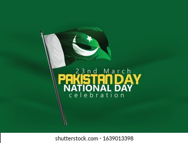23rd of march Pakistan national day celebration card, poster, Happy Pakistan's Resolution Day 23rd March