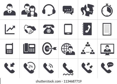 24 Call Center Icons