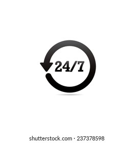 24 Hour 7 Day Symbol