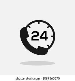 24 hour call service. 24 hour service. Twenty four hour service