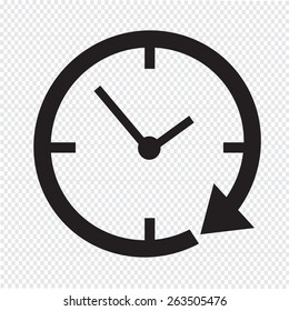 24 hour clock Icon