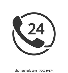 24 Hour Hotline Icon