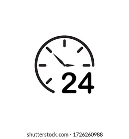24 Hour icon vector illustration design template