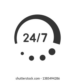24 hour service, availability, support icon