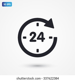 24 hour VECTOR ICON