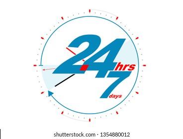 24 hours 7 days