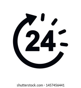 24 hours, all day cyclic icon. Signs and symbol for websites, web design, mobile app on white background