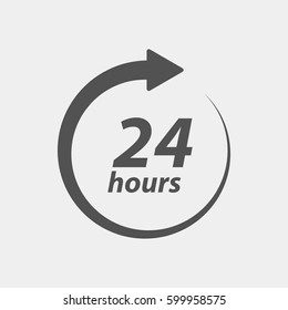 24 hours, all day cyclic icon