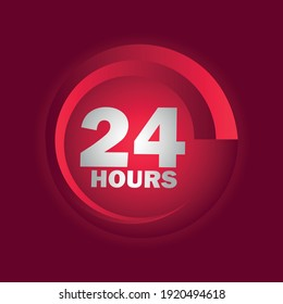24 Hours a day service icon symbol vector EPS 10