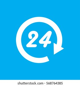 24 hours icon illustration isolated vector sign symbol