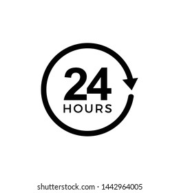 24 hours icon symbol vector illustration