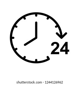24 hours icon template