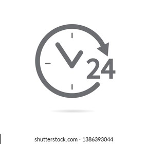 24 hours icon. Vector illustration. on white background