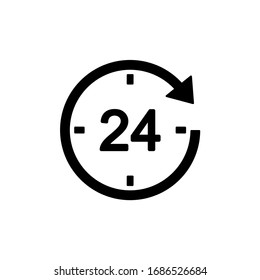 24 hours icon vector illustration