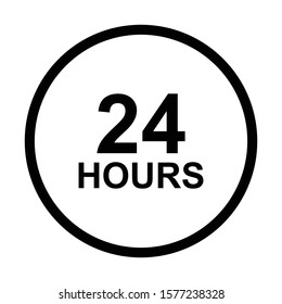 24 hours sign icon vector