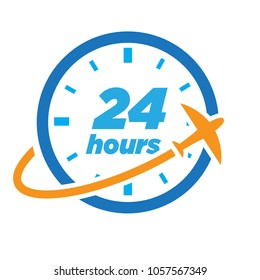 24 hours travel logo