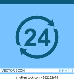 24 hours vector icon