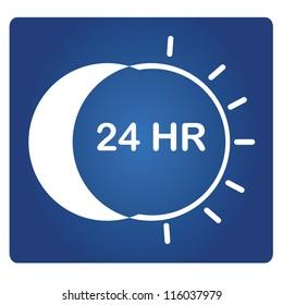 24 HR signage