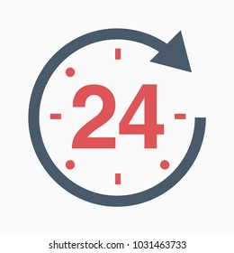 24 number grey axis time hour icon