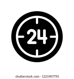 24 Service icon. Trendy 24 Service logo concept on white background from Hotel and Restaurant collection. Suitable for use on web apps, mobile apps and print media.