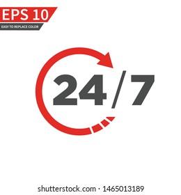 24 Twenty four hour open vector template