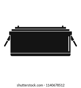24 volt car battery icon. Simple illustration of 24 volt car battery vector icon for web design isolated on white background
