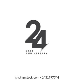 24 Years Anniversary Celebration Vector Template Design Illustration