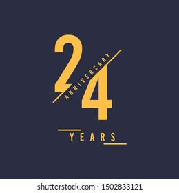 24 Years anniversary design. Vector illustration