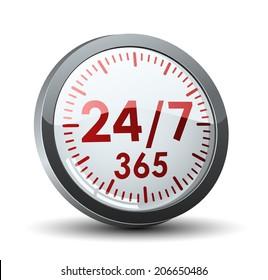 24/7 365 button
