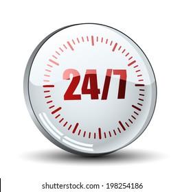 24/7 button