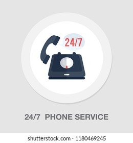 24/7 customer service icon - customer support icon - call center icon