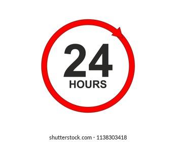 24/7 hours service vector