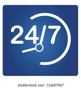 24/7 signage, 24 HR