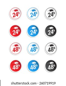 24h & 48h Stickers