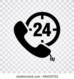 24h Call center icon