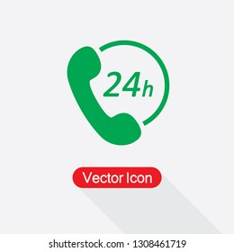 24h Support Icon Vector Illustration Eps10