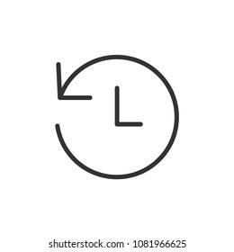 24hours Clock Arrow Vector Icon