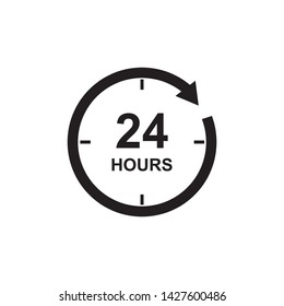 24hours icon vector symbol design