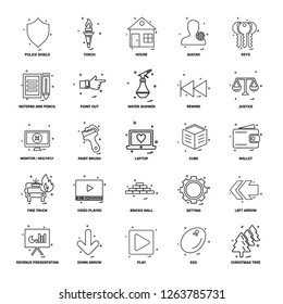 25 Business Concept Mix Line Icon set