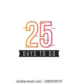 25 Days to go design template