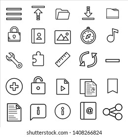 25 icon user interface for website or smartphone aplicaton