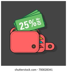 25% Off Discount Coupon Inside Wallet