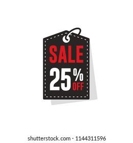 25% Off discount label