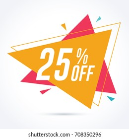 25% off discount and sale promotion banner