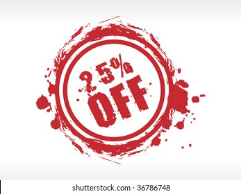 25% off sale sticker isolated on white background
