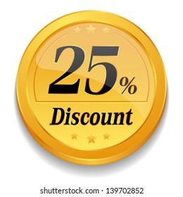 25 percent discount coin