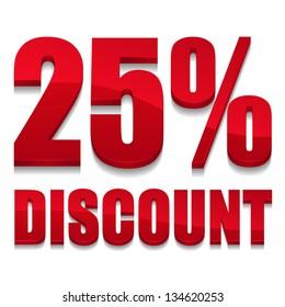 25 percent discount digits